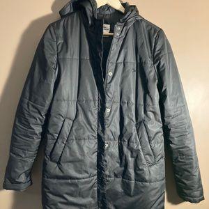 Lacoste black on black hooded jacket